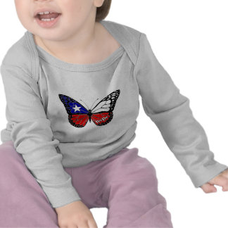 Hope Butterfly Chile Flag Tshirt