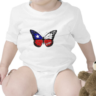 Hope Butterfly Chile Flag Shirts