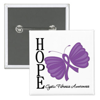 Hope Butterfly Cystic Fibrosis Pins