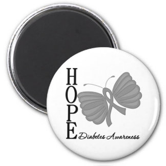 Hope Butterfly Diabetes 2 Inch Round Magnet