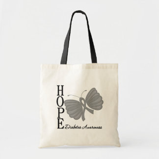 Hope Butterfly Diabetes Budget Tote Bag