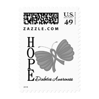 Hope Butterfly Diabetes Postage Stamps