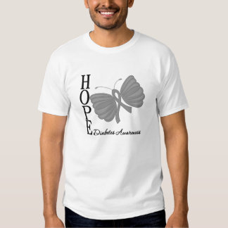 Hope Butterfly Diabetes Tshirt