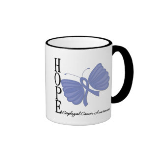Hope Butterfly Esophageal Cancer Ringer Coffee Mug