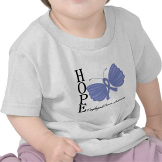 Hope Butterfly Esophageal Cancer Tee Shirts