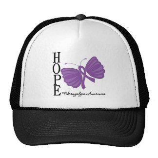 Hope Butterfly Fibromyalgia Mesh Hat