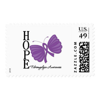 Hope Butterfly Fibromyalgia Stamp