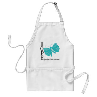 Hope Butterfly Gynecologic Cancer Adult Apron