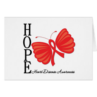 Hope Butterfly Heart Disease Greeting Card