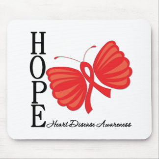 Hope Butterfly Heart Disease Mouse Pad