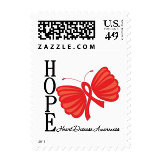 Hope Butterfly Heart Disease Postage Stamps