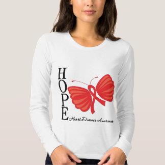 Hope Butterfly Heart Disease Shirt
