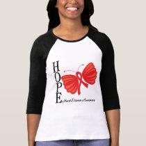 Hope Butterfly Heart Disease Tee Shirt