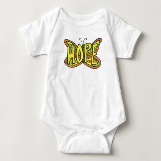 Hope Butterfly Inspirational Word Art Custom Shirt