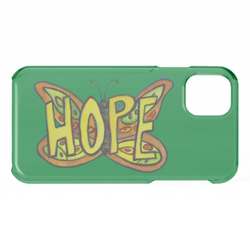Hope Butterfly Inspirational Word iPhone Case