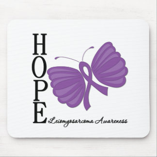 Hope Butterfly Leiomyosarcoma Mousepads