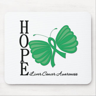 Hope Butterfly Liver Cancer Mouse Pad