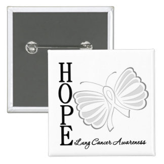 Hope Butterfly Lung Cancer Pin