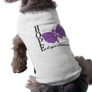 Hope Butterfly Lupus Dog Tee Shirt