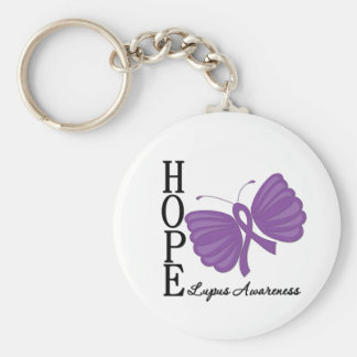 Hope Butterfly Lupus Key Chains