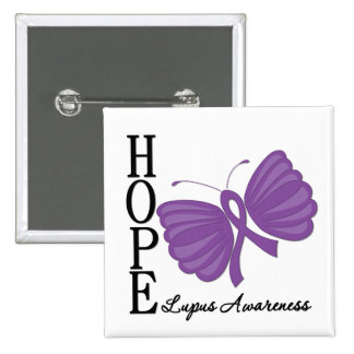 Hope Butterfly Lupus Pin
