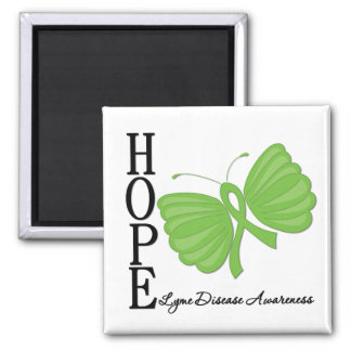 Hope Butterfly Lyme Disease 2 Inch Square Magnet