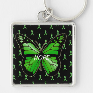 Hope Butterfly Lyme Disease Awareness Keychain