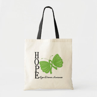 Hope Butterfly Lyme Disease Canvas Bags