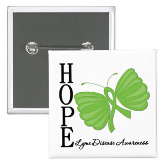 Hope Butterfly Lyme Disease Buttons