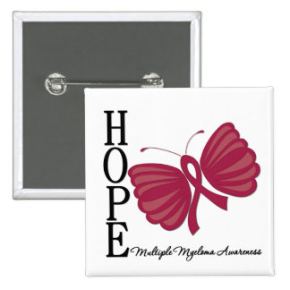 Hope Butterfly Multiple Myeloma Pinback Button