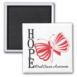 Hope Butterfly Oral Cancer Refrigerator Magnet