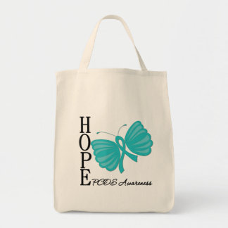Hope Butterfly PCOS Tote Bags