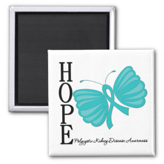 Hope Butterfly Polycystic Kidney Disease Magnets