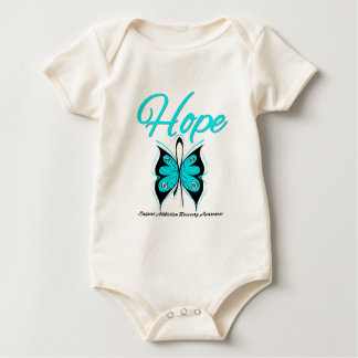 Hope Butterfly Ribbon Addiction Recovery Baby Bodysuits