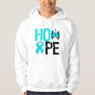 HOPE Butterfly Ribbon Addiction Recovery Hooded Sweatshirt