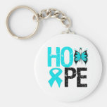 HOPE Butterfly Ribbon Addiction Recovery Keychain