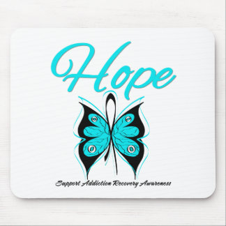 Hope Butterfly Ribbon Addiction Recovery Mouse Pad