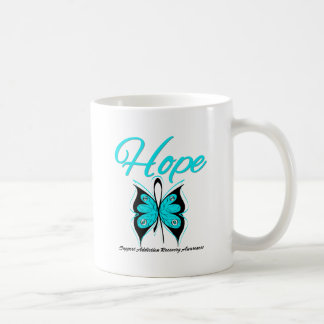 Hope Butterfly Ribbon Addiction Recovery Classic White Coffee Mug