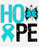 HOPE Butterfly Ribbon Addiction Recovery T-Shirt