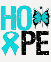 HOPE Butterfly Ribbon Addiction Recovery Tshirt