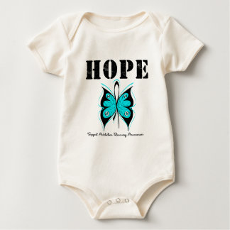 HOPE Butterfly Ribbon Addicton Recovery Baby Bodysuits