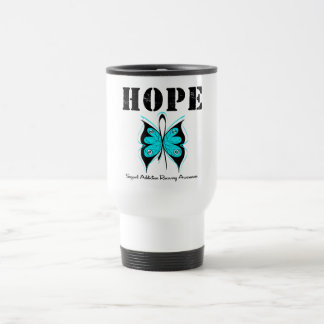 HOPE Butterfly Ribbon Addicton Recovery 15 Oz Stainless Steel Travel Mug