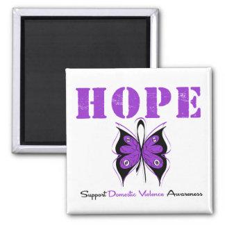 Hope Butterfly Ribbon Domestic Violence Fridge Magnet
