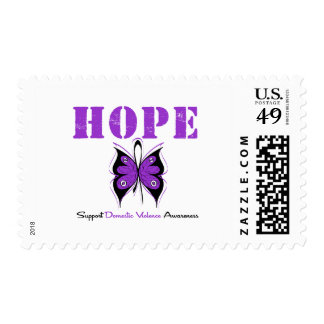 Hope Butterfly Ribbon Domestic Violence Postage Stamp