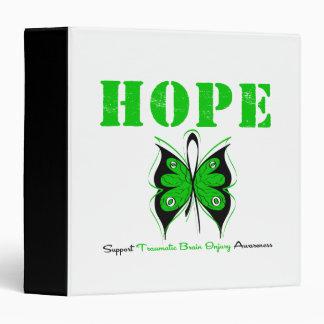HOPE Butterfly RibbonTraumatic Brain Injury 3 Ring Binder