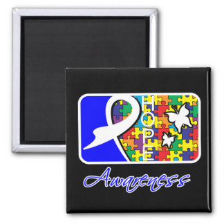 Hope Butterfly Tile Card Autism 2 Inch Square Magnet