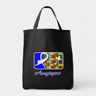 Hope Butterfly Tile Card Autism Canvas Bags