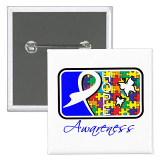 Hope Butterfly Tile Card Autism Button