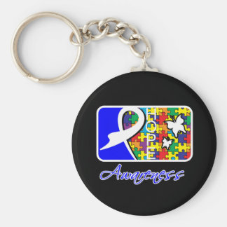 Hope Butterfly Tile Card Autism Keychain