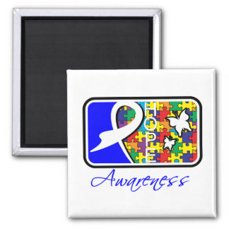 Hope Butterfly Tile Card Autism Refrigerator Magnets